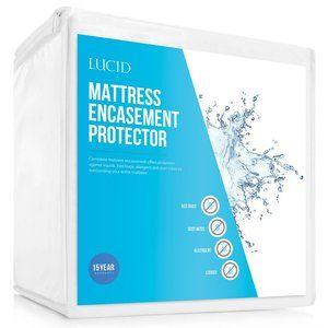 LUCID Encasement Mattress Protector, Queen